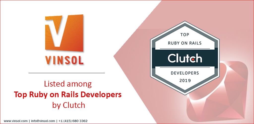 Vinsol is listed as one of the top Ruby On Rails Developers