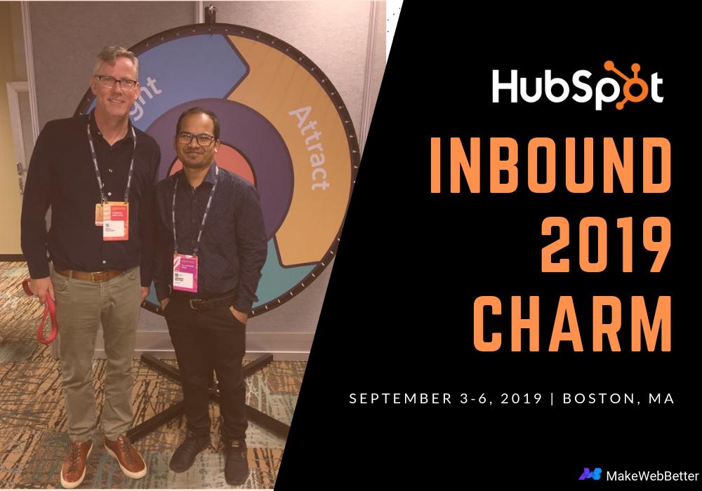 MakeWebBetter cheers for HubSpot Conference Inbound 2019