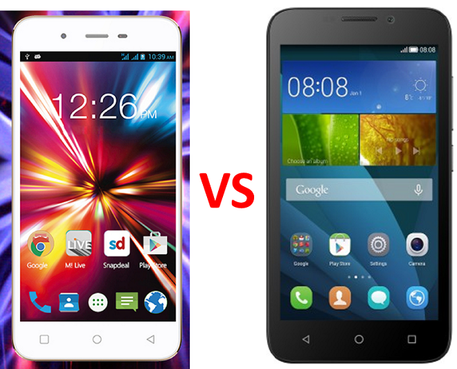 Micromax Canvas Spark Q380 vs Huawei Honor Bee photo