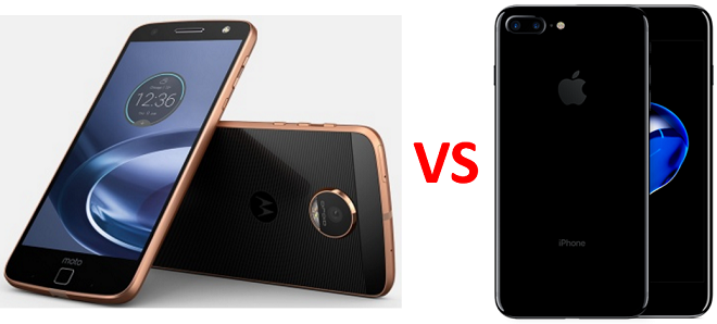 moto z vs iphone 7