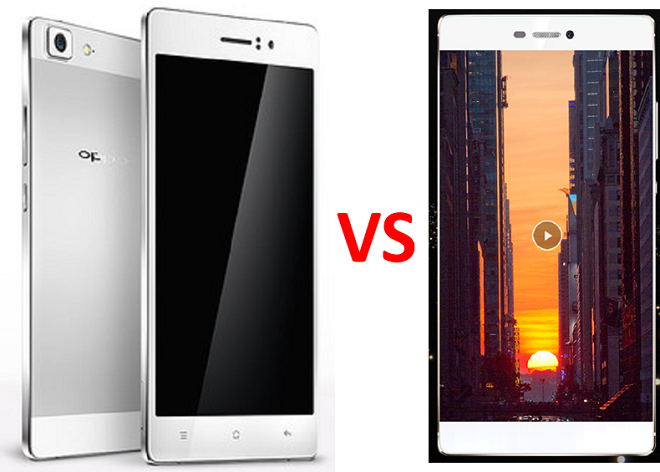 Oppo R7 vs Huawei P8 photo