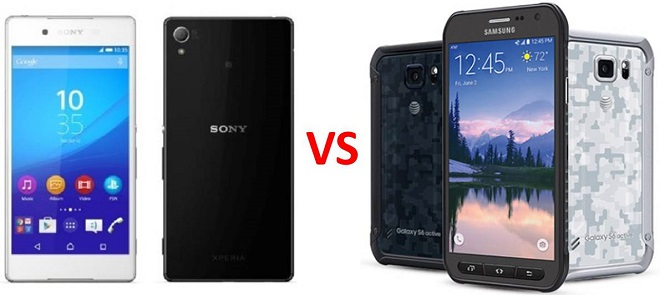 Sony Xperia Z4v vs Samsung Galaxy S6 Active: a smartphone to accompany you in whatever you do
