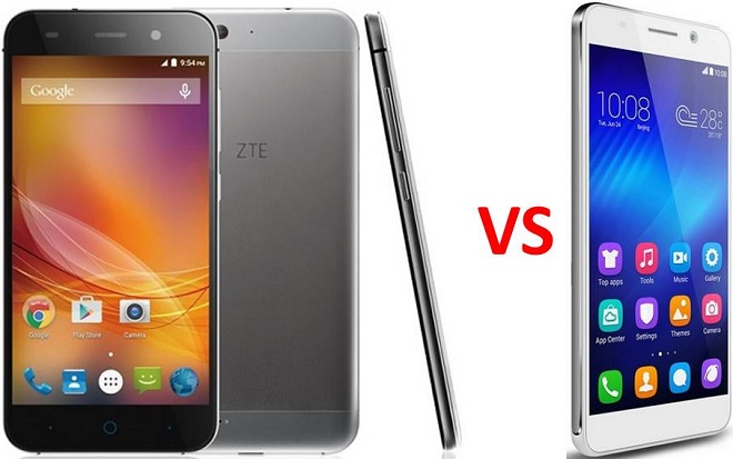 ZTE Blade D6 vs Huawei Honor 7i photo