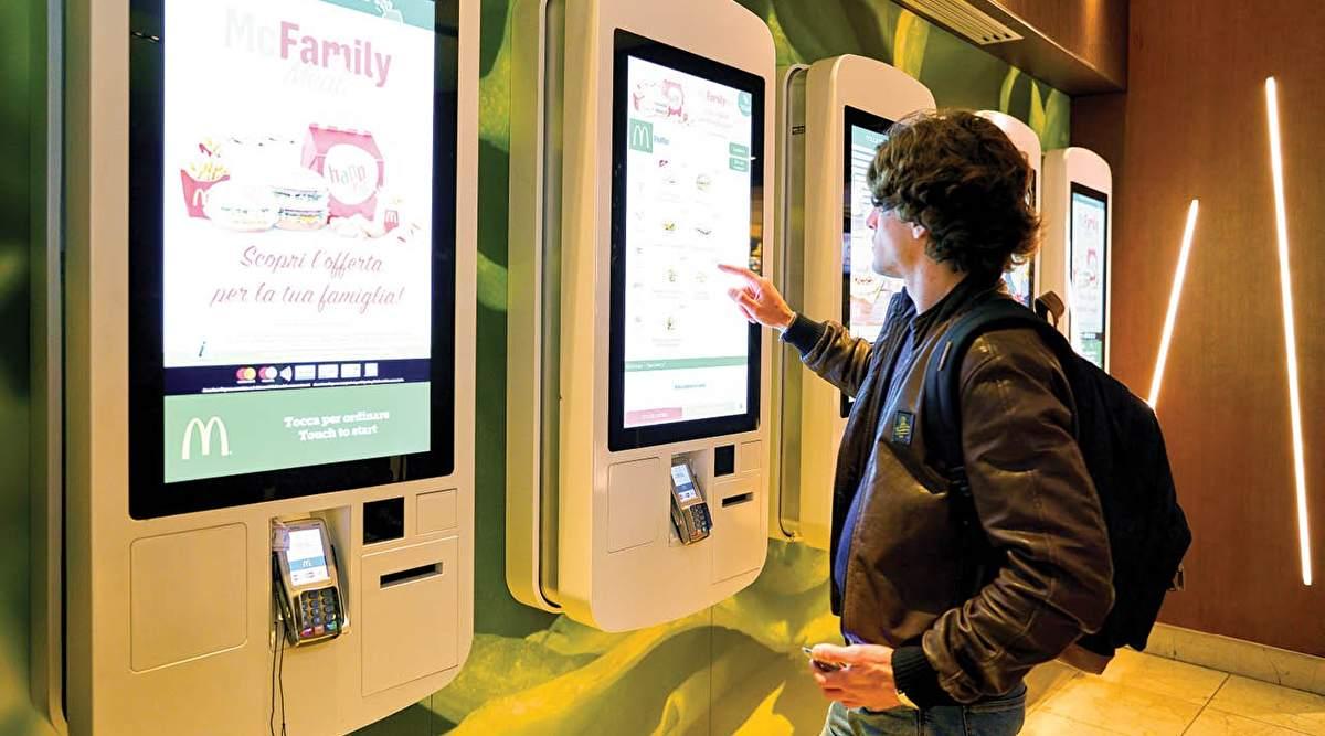 QSR self ordering kiosk at mcdonalds