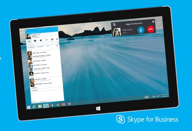 PRE524 premier promotes skype for business