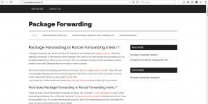 Package Forwarding