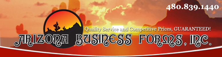 Arizona Business Forms - Phoenix Commercial Printing